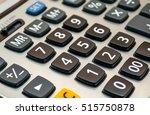 close up black button calculator | Shutterstock . vector #515750878