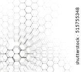 chemistry 3d pattern  hexagonal ... | Shutterstock .eps vector #515755348