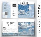 set of square design brochure... | Shutterstock .eps vector #515755366