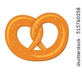 pretzel on white background.... | Shutterstock .eps vector #515760358