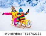 little girl and boy enjoying... | Shutterstock . vector #515762188
