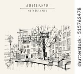 amsterdam  holland  netherlands ... | Shutterstock .eps vector #515763478