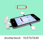 mobile phone is dead because... | Shutterstock .eps vector #515767630