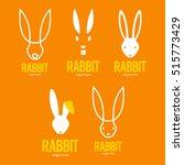 Rabbit Bunny Logo Icon Symbol...