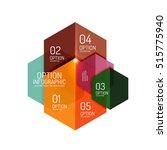 paper modern infographic... | Shutterstock .eps vector #515775940