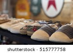 shoes on shelves of shop. shoes ... | Shutterstock . vector #515777758