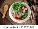 Asian Noodle Soup With Beef...