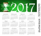 calendar of 2017 year  week... | Shutterstock .eps vector #515783290