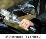 hand rider on the handlebars | Shutterstock . vector #51578560