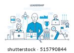 leadership and leadership... | Shutterstock .eps vector #515790844
