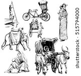 india  drawing collection  ... | Shutterstock .eps vector #515794000