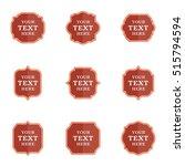 vector set blank vintage labels ...   Shutterstock .eps vector #515794594