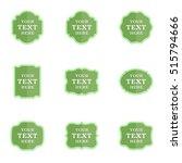 vector set blank vintage labels ... | Shutterstock .eps vector #515794666