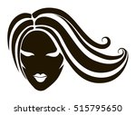 a stylized drawing of the head...   Shutterstock .eps vector #515795650
