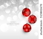 amazing red christmas hanging... | Shutterstock .eps vector #515802670