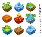 islands of computer game... | Shutterstock .eps vector #515803570