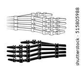 mechanical hand vector... | Shutterstock .eps vector #515805988