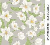 hellebore flowers blossom...   Shutterstock .eps vector #515806060