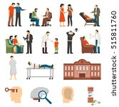 flat color icons set depicting... | Shutterstock .eps vector #515811760
