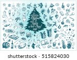 merry christmas and happy new... | Shutterstock .eps vector #515824030
