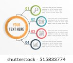 Infographic template with four steps or options, workflow, process diagram, vector eps10 illustration | Shutterstock vector #515833774