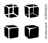 ice cube black symbols vector | Shutterstock .eps vector #515842624