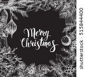 vector vintage greeting card.... | Shutterstock .eps vector #515844400