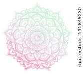 round gradient mandala on white ... | Shutterstock .eps vector #515849230