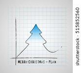 merry christmas tree on... | Shutterstock .eps vector #515852560