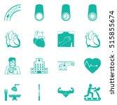 coronary artery disease symbol  ... | Shutterstock .eps vector #515855674