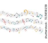 isolated music note design | Shutterstock .eps vector #515858158