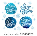 merry christmas   calligraphy.... | Shutterstock .eps vector #515858320