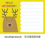 cute notes card with winter... | Shutterstock .eps vector #515858548