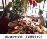 family together christmas... | Shutterstock . vector #515859604
