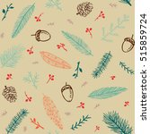 winter seamless pattern with... | Shutterstock .eps vector #515859724