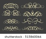 vintage decor elements and... | Shutterstock .eps vector #515860066