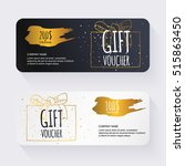 gift voucher template with ... | Shutterstock .eps vector #515863450