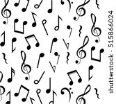 music note background design | Shutterstock .eps vector #515866024