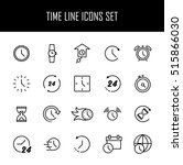 set of time simple vector line... | Shutterstock .eps vector #515866030