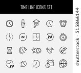 set of time simple vector line... | Shutterstock .eps vector #515866144