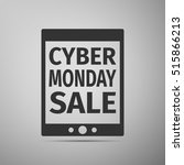 tablet pc with cyber monday... | Shutterstock . vector #515866213