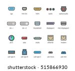 computer interface ports vector ... | Shutterstock .eps vector #515866930
