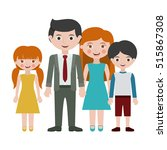 parents daughter and son... | Shutterstock .eps vector #515867308