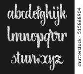 vector alphabet. calligraphic... | Shutterstock .eps vector #515868904
