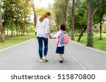 asian mother and daughter... | Shutterstock . vector #515870800