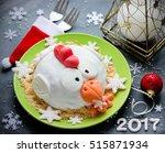 rooster cake  cock cake  hen... | Shutterstock . vector #515871934