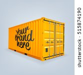 Vector Of Cargo Container Or...