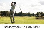 man hitting driver on a golf... | Shutterstock . vector #515878840
