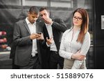 male colleagues whispering... | Shutterstock . vector #515889076
