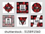 abstract vector black friday... | Shutterstock .eps vector #515891560